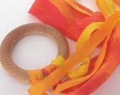 Flutterby, Fire (Natural Silk Streamer Toy)