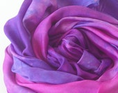 Silk Play Scarf : Heart of the Hyacinth (35 inch Hand Dyed Playsilk)