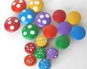 Count  and Sort Your Toadstools (Wooden Counting and Sorting Game)