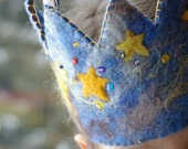 Galaxy Birthday Crown: Custom Made Waldorf Style Wool Crown (Galaxy Design)