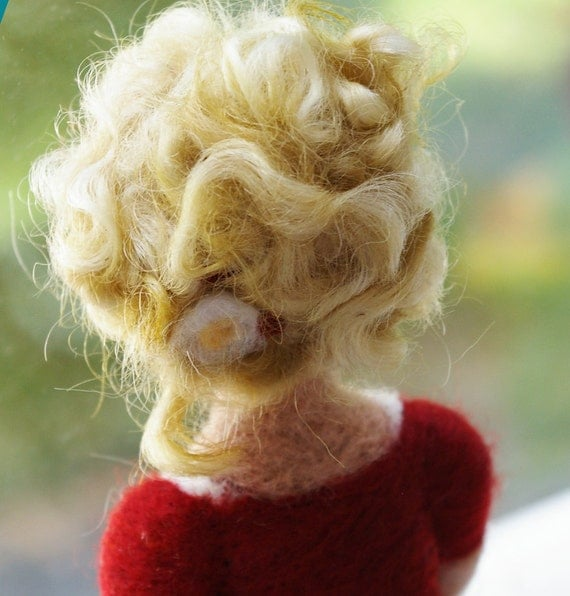 Needlefelted Wool Pregnancy Sculpture :  I Feel Your Heart Next to Mine (Waldorf Inspired)