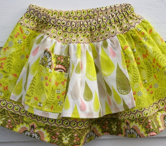 SALE Twirly Toddler Skirt : The Puddle Jumper Skirt (How Charming,  Size 2T 3T 4T )