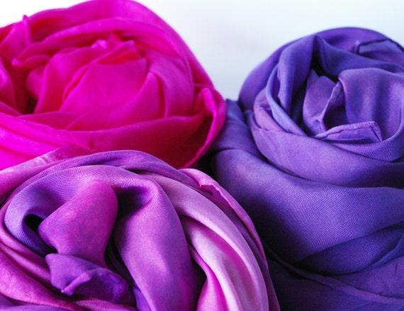 Play Silk Trio : Hyacinth (Set of 3, 35 inch Playsilks)