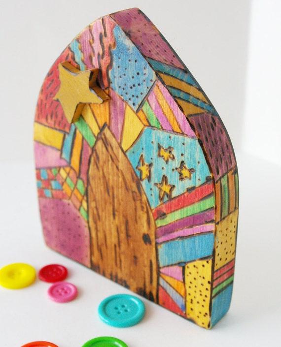 Fairy door rainbow mosaic for Rainbow fairy door