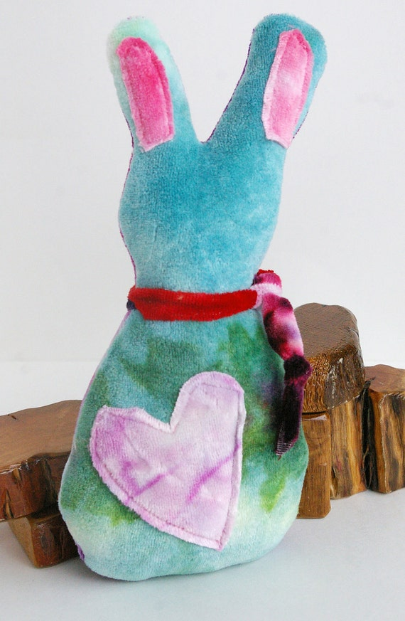 Natural Toy: Millicent the Scraprabbit (Bamboo Velour Waldorf Style Toy)