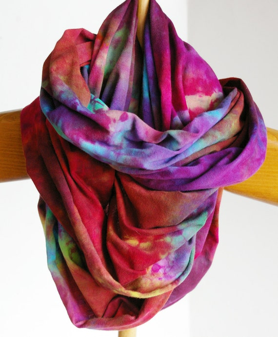 Jersey Circle Scarf : Hand Dyed Infinity Scarf (Promise of Hope)