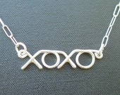 xoxo necklace - sterling silver wire