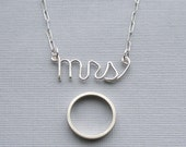 mrs necklace - sterling silver wire