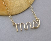 mrs necklace - 14K gold fill