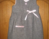 Wool Wrap Dress with Pink Accents Size 3T/4T