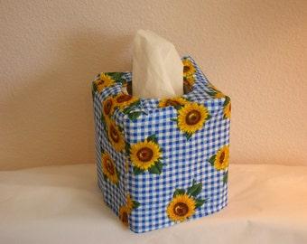 Tissue Box Cover Sunflowers