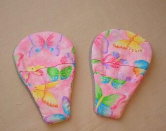 Magnetic Potholders Pink w/ butterflies