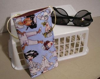 Eyeglass Case Hanging Soft Fabric Nurses