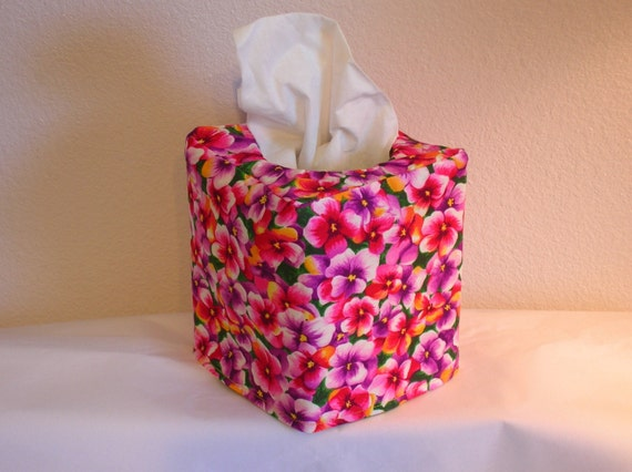 Tissue Box Cover Spring Flowers