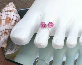 Swavorski Crystal Toe ring from our Brielle Collection,pink
