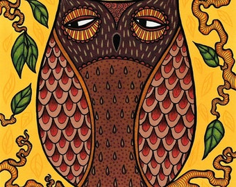 Brown Owl - Art print