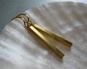 Golden bar earrings