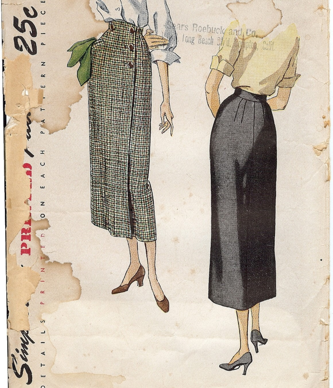 Sewing pattern dating .35 cents