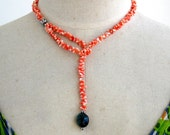 Coral T necklace