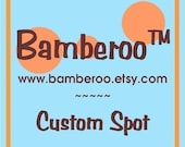 NEW PRICE! 225.00 Custom Spot for Bamberoo wrap conversion/Canvas SSC or Bamberoo Breeze baby carrier