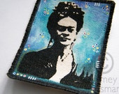 Frida Kahlo Dia de los Muertos xx IRON on ART PATCH xx original painting