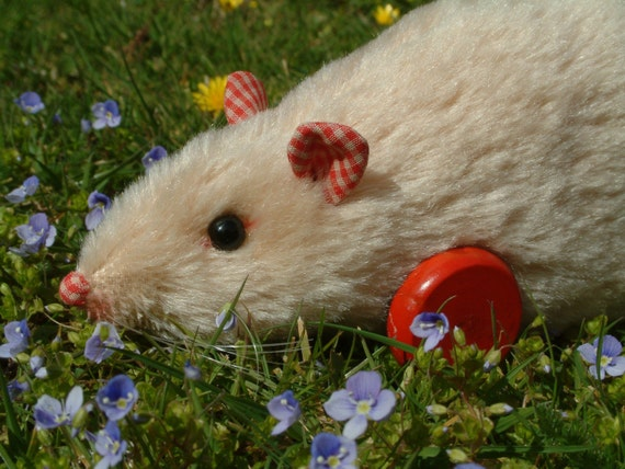 Sandy, wheeled rat soft toy, unique and whimsical ...