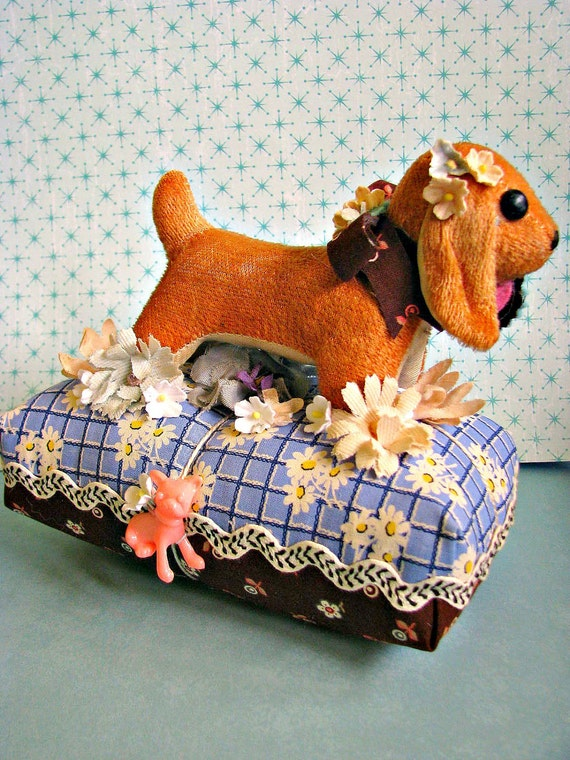 Vintage Plush Dog Pin Cushion