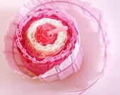 4 pink hand-crafted Paper Twist Garlands 5m or 16ft each - a lovely party decoration