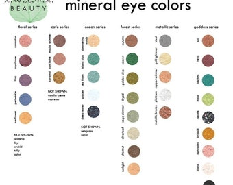 mineral eye colors, your choice