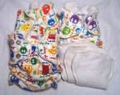 Rainy Days fitted diaper 3pk size 1