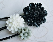 SUMMER SPECIAL  Tuxedo............Neutral Flower Hair Pins