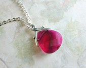 REDUCED Pomegranate........Swarovski Necklace