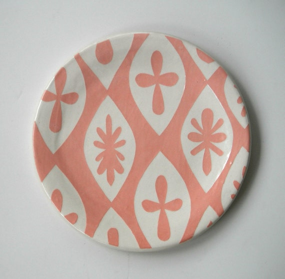 Pink Flower Plate SALE TODAY ONLY