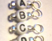 Alphabet  Stitch Markers  A to D  Set of 8