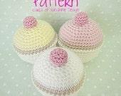 Crochet Pattern Simple Pastel Cupcakes PDF