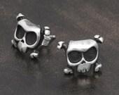 Skull Earrings LOUIE in Sterling Silver