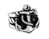 ANCHOR Ring in Sterling Silver - Wedding - Engagement - Anniversary - Men - Women - Anniversary gift