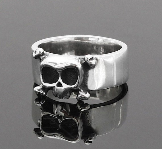 Skull band Louie  in sterling silver - Wedding - Engagement