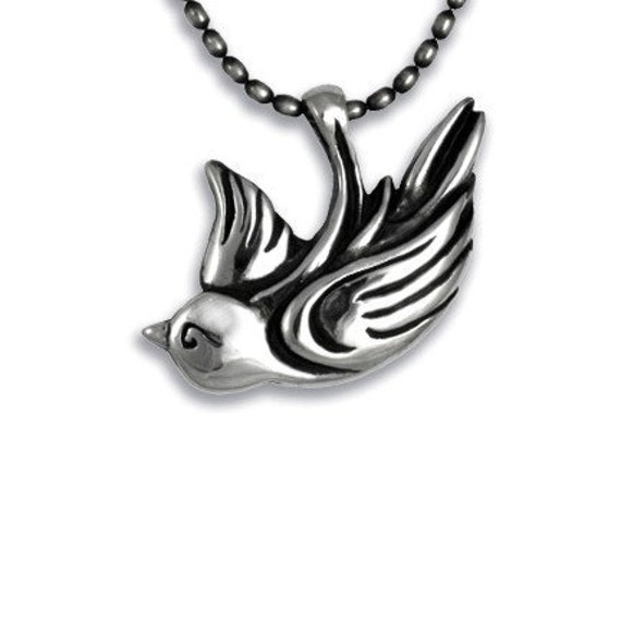 SPARROW Pendant necklace in Sterling Silver with chain