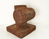 Vintage Rusty Industrial Object - heavy solid metal