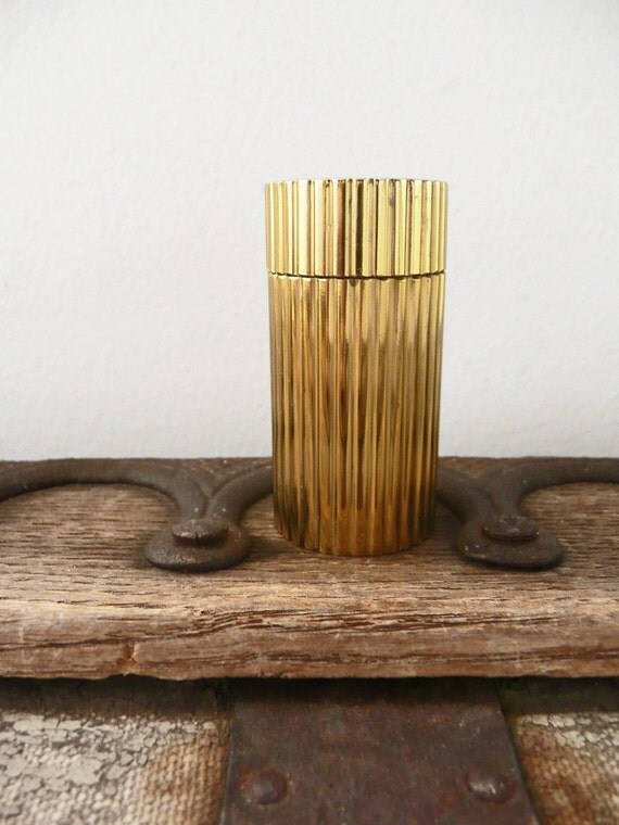 Vintage Mini Pepper Mill Brass Made In Italy