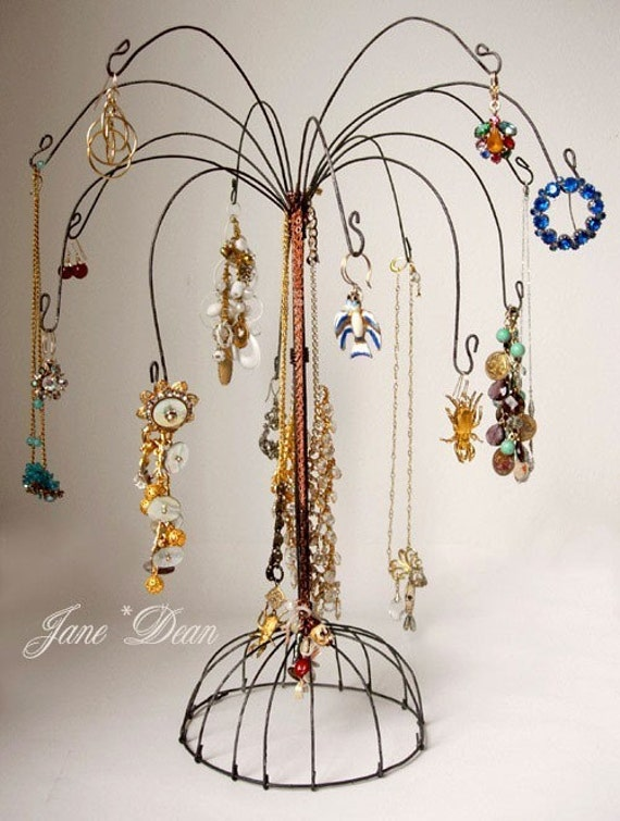 Wire Palm Tree Jewelry Display