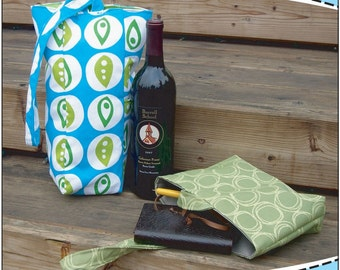 Wine Tote and Journal Bag Sewing Pattern PDF