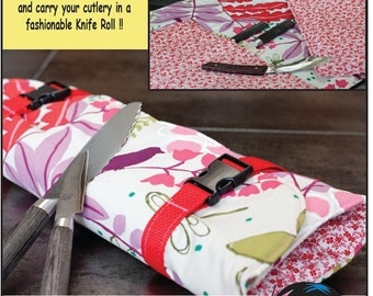 Chef Knife Roll Sewing Pattern PDF