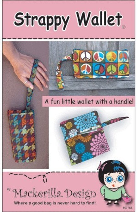 Sewing Pattern Strappy Wallet PDF