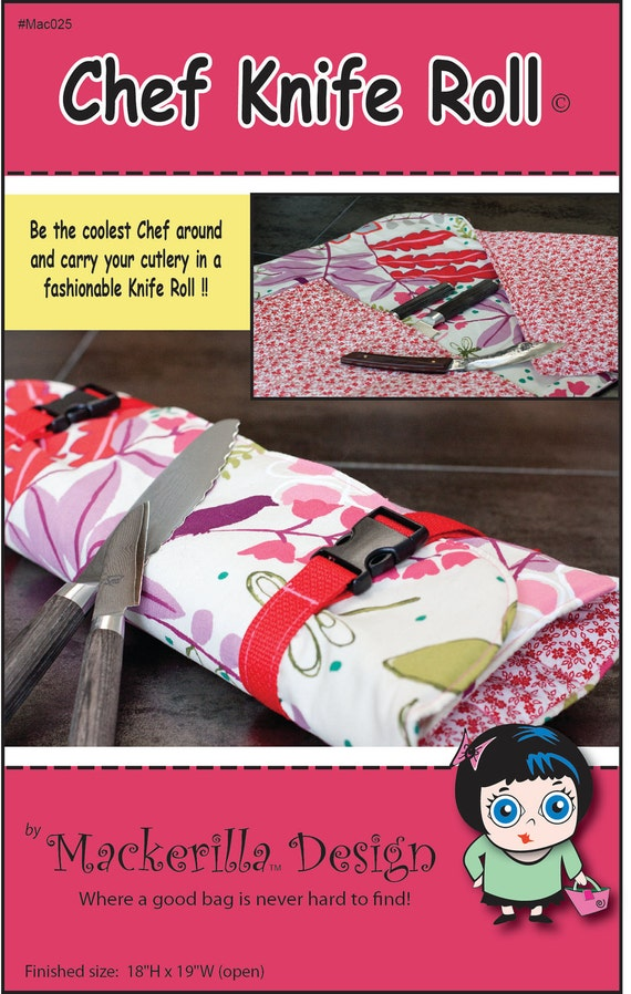 chef knife roll sewing pattern pdf. Black Bedroom Furniture Sets. Home Design Ideas