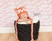 CUSTOM Little Sleepy Owl Earflap Hat for Baby  to Adult Photo Prop CUSTOM ORDER