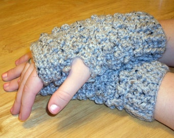 Crochet Pattern for Making Short and Sassy Bobble Fingerless Gloves PDF Pattern Instant Download