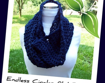 Pattern for an Easy Crochet Infinity Scarf - INSTANT DOWNLOAD