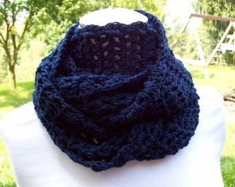Crochet Pattern for an Easy Crochet Infinity Scarf  Cowl Scarflet - INSTANT DOWNLOAD Adult Teens